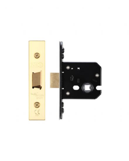 Zoo Hardware ZUKF64PVD Flat Mortice Latch 64mm PVD Brass